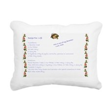Recipe For Life-Middle Rectangular Canvas Pillow