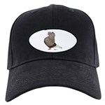 Brown Teager Cap Black Cap