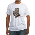 Brown Teager Cap Fitted T-Shirt