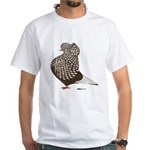 Brown Teager Cap White T-Shirt
