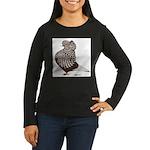 Brown Teager Cap Women's Long Sleeve Dark T-Shirt