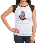 Brown Teager Cap Women's Cap Sleeve T-Shirt
