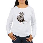 Brown Teager Cap Women's Long Sleeve T-Shirt