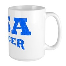 usa soccer distressed blue Mug