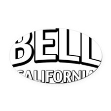 Bell CA Oval Car Magnet