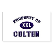 Property of colten Rectangle Decal