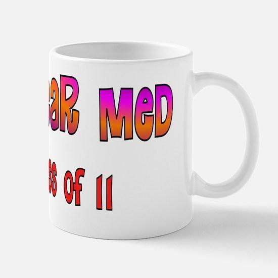 Nuclear med class of 11 pink purple ora Mug