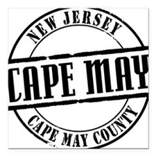 "Cape May Title W Square Car Magnet 3"" x 3"""