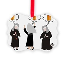 Nuns and Beer Thoughts Ornament