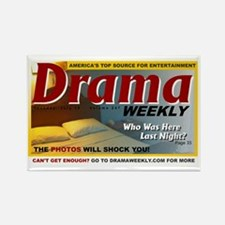 dramaweekly-white-cropped Rectangle Magnet