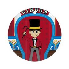 Circus Pad1 Round Ornament