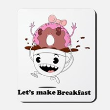 coffee donut apparel Mousepad
