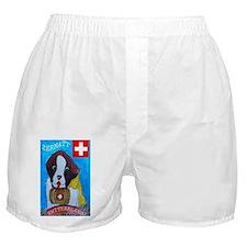 St bernard large print Boxer Shorts