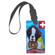 St Bernard card Luggage Tag
