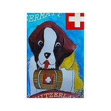St Bernard card Rectangle Magnet