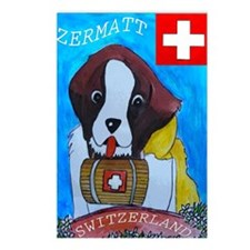St Bernard card Postcards (Package of 8)