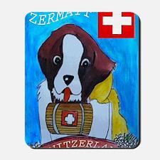St Bernard card Mousepad