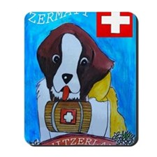 St Bernard frame Mousepad