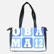 Obama 12 block logo Diaper Bag