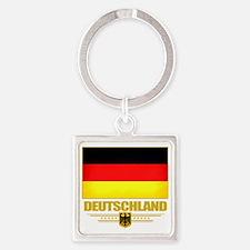 Germany (Flag 10) Square Keychain
