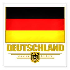 "Germany (Flag 10) Square Car Magnet 3"" x 3"""