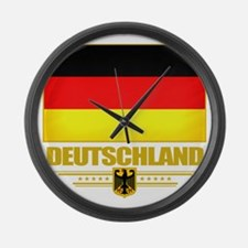 Germany (Flag 10) Large Wall Clock