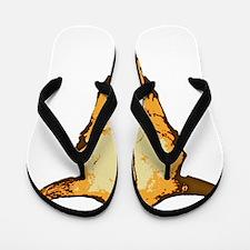COW SKULL - colored Flip Flops