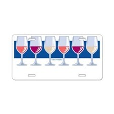 Wines-Constantly-blk Aluminum License Plate