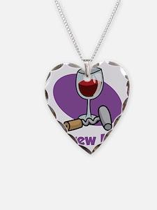 Wine-Screw-It-blk Necklace