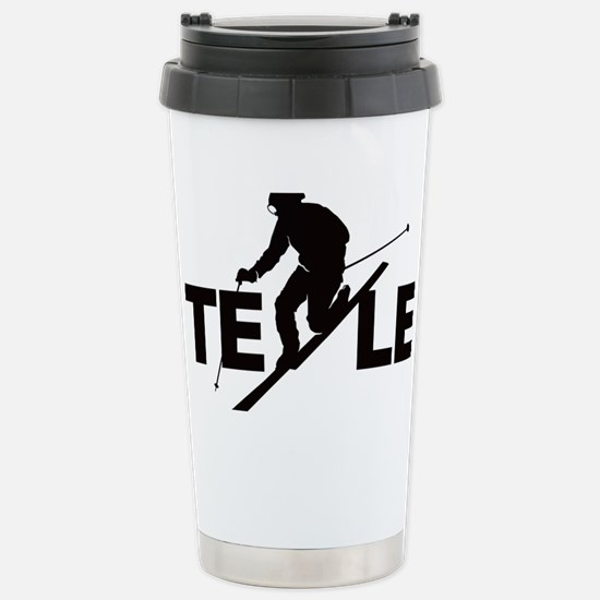 TE LE black Stainless Steel Travel Mug