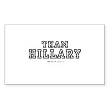 Team Hillary Rectangle Decal