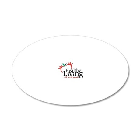 Celebration-of-a-Healthy-Liv 20x12 Oval Wall Decal