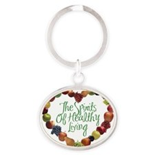 The Spirits of Healthy Living714 Oval Keychain