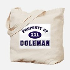 Property of coleman Tote Bag