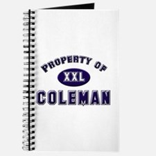 Property of coleman Journal