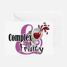 Wine-Complex-and-Fruity Greeting Card