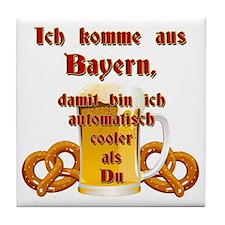 I come from Bavaria Tile Coaster