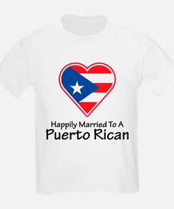 Happily Married Puerto Rican Kids T-Shirt