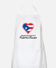 Happily Married Puerto Rican BBQ Apron