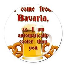 I come from Bavaria english Round Car Magnet