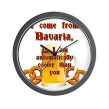 I come from Bavaria english Wall Clock