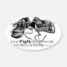 runningshoes Oval Car Magnet