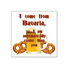 "I come from Bavaria english Square Sticker 3"" x 3"""
