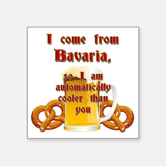 "I come from Bavaria english Square Sticker 3"" x 3"""