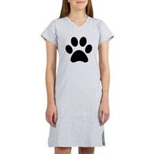 BLACK PAW PRINT Women's Nightshirt