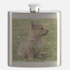 Swedish Vallhund Pup 9Y165D-131 Flask