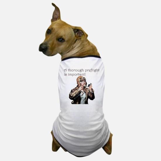 thorough preflight pink Dog T-Shirt