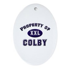 Property of colby Oval Ornament