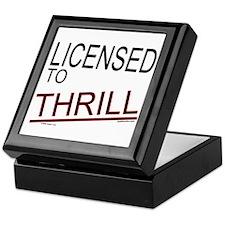 Licensed to Thrill Keepsake Box