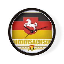 Niedersachsen (Flag 10) Wall Clock